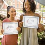 2017 Mary Nangeroni Social Justice Award recipients Rubylus Vazquez (L) and Naucia Mason